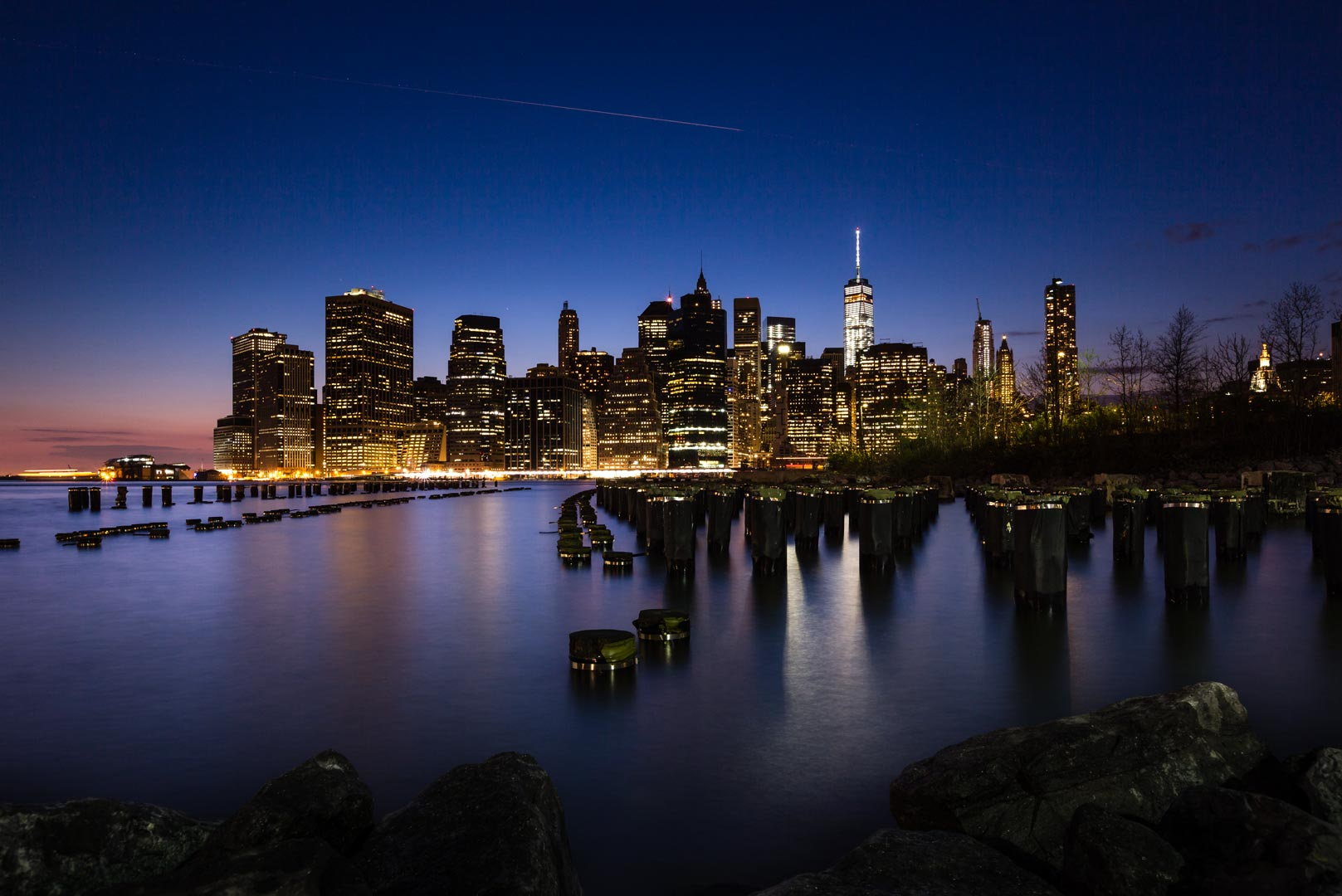 new york city skyline night leinwand fineart myphoto4fun. Black Bedroom Furniture Sets. Home Design Ideas