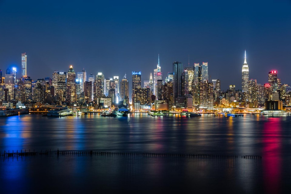 new york city uptown skyline leinwand fineart myphoto4fun. Black Bedroom Furniture Sets. Home Design Ideas